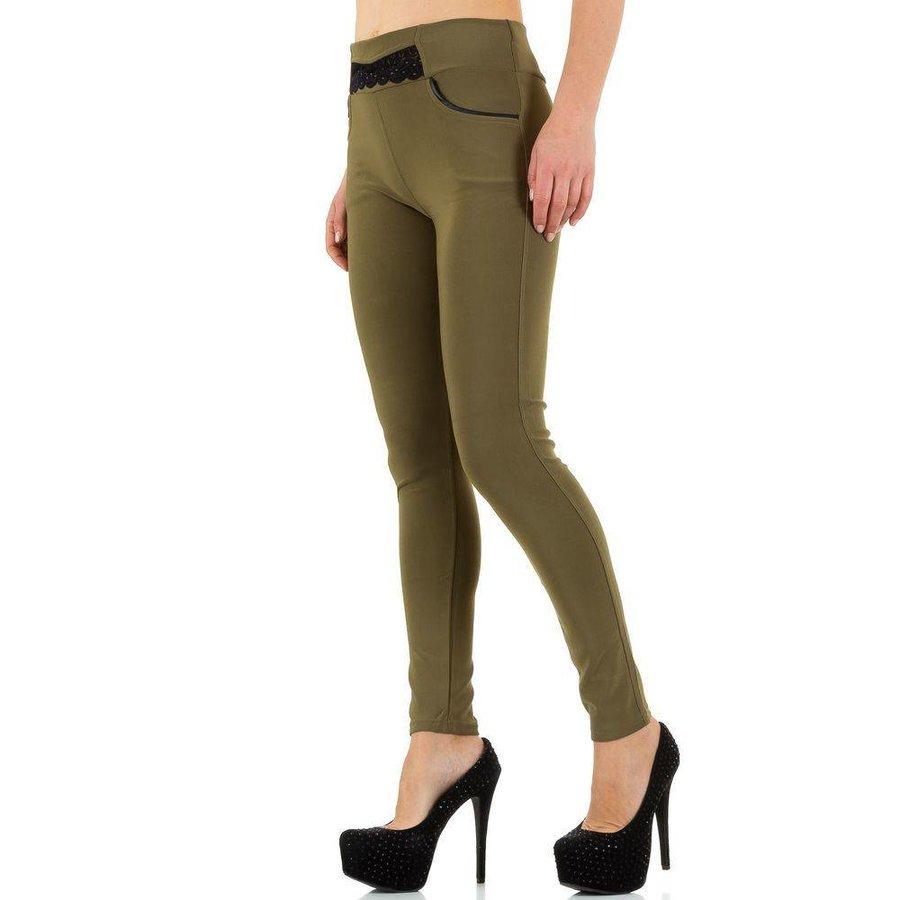 Damen Legging mit Taschen - Khaki