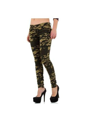 GIRL VIVI Dames jeans - armygreen