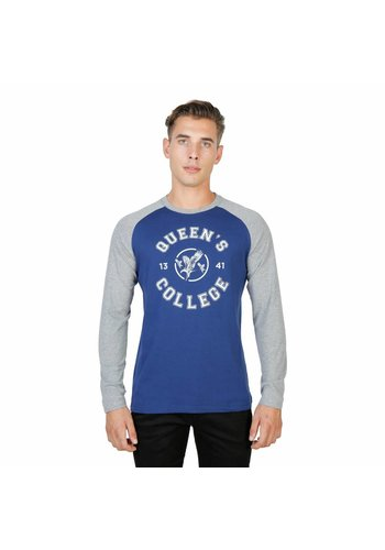 Oxford University Heren Longsleeve ORIEL-RAGLAN-ML - blauw/grijs