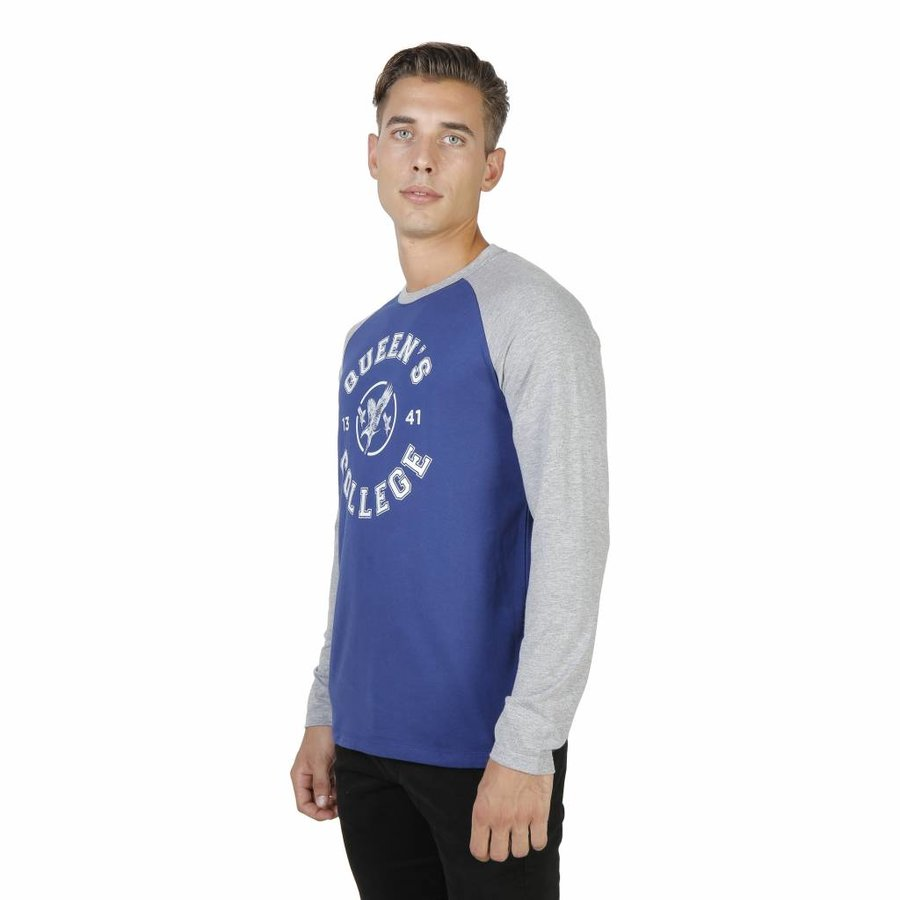 Herren Longsleeve ORIEL-RAGLAN-ML - blau / grau