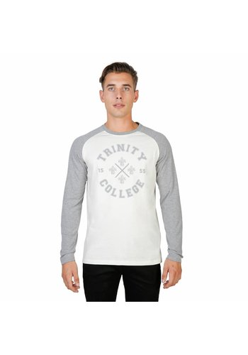 Oxford University Heren Longsleeve ORIEL-RAGLAN-ML - grijs