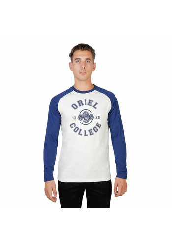 Oxford University Heren Longsleeve ORIEL-RAGLAN-ML - blauw