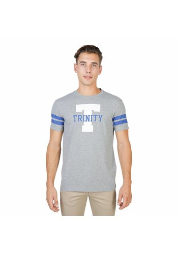 Oxford University Heren T-shirt TRINITY-STRIPED-MM - grijs
