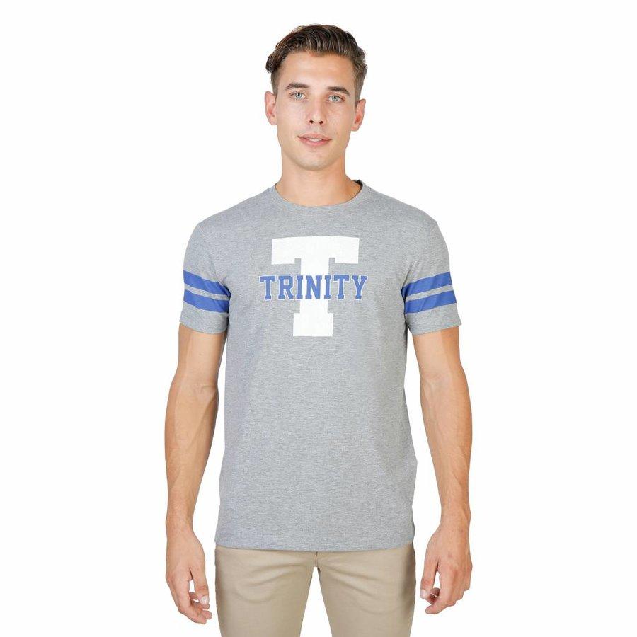 Herren T-Shirt TRINITY-STREIFEN-MM - grau