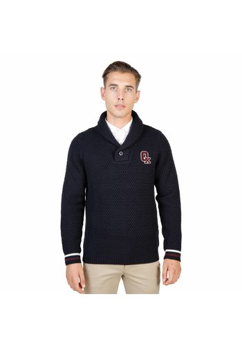 Oxford University Herren Pullover mit Kragen OXFORD_TRICOT-SHAWL - blau