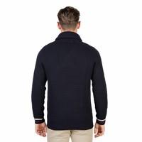 Herren Pullover mit Kragen OXFORD_TRICOT-SHAWL - blau