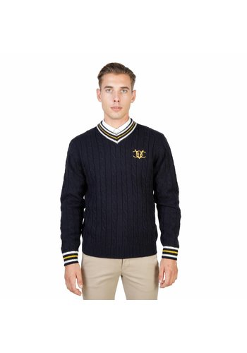 Oxford University Pull Homme OXFORD_TRICOT-CRICKET - bleu
