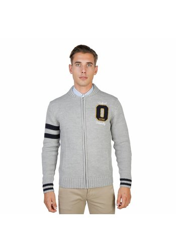 Oxford University Cardigan homme par OXFORD_TRICOT-TEDDY - gris