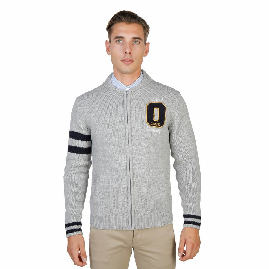 Herren Strickjacke von OXFORD_TRICOT-TEDDY - grau