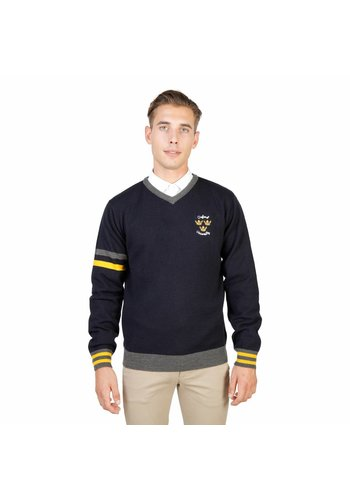 Oxford University Pull Homme OXFORD_TRICOT-VNECK - bleu