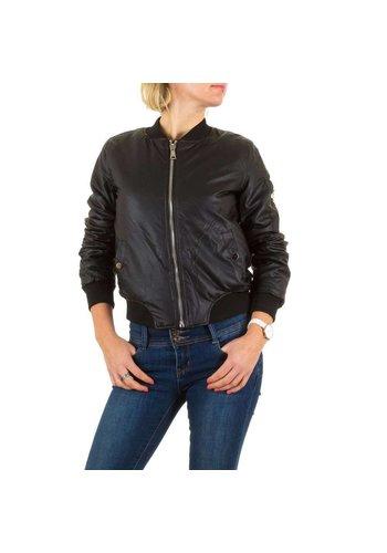 BEST EMILIE Veste courte en cuir look femme - noir