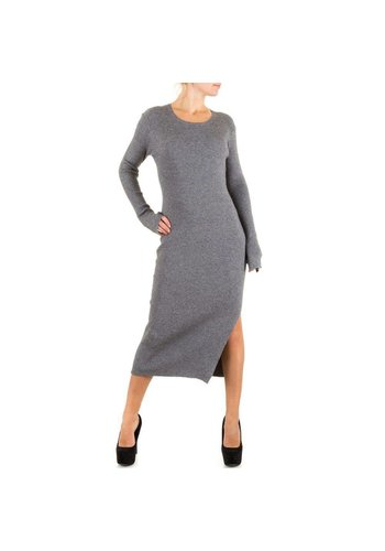 SWEEWE Langes Damen Kleid - grau