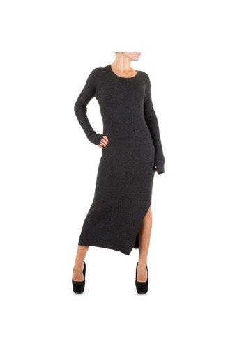 SWEEWE Langes Damen Kleid - DK.grau