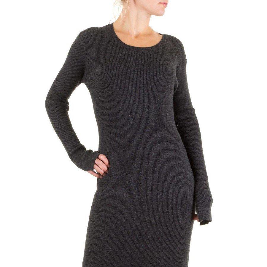 Langes Damen Kleid - DK.grau