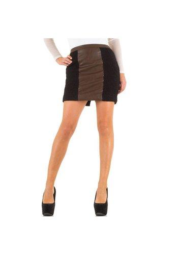 SWEEWE Damenrock - schwarz / braun