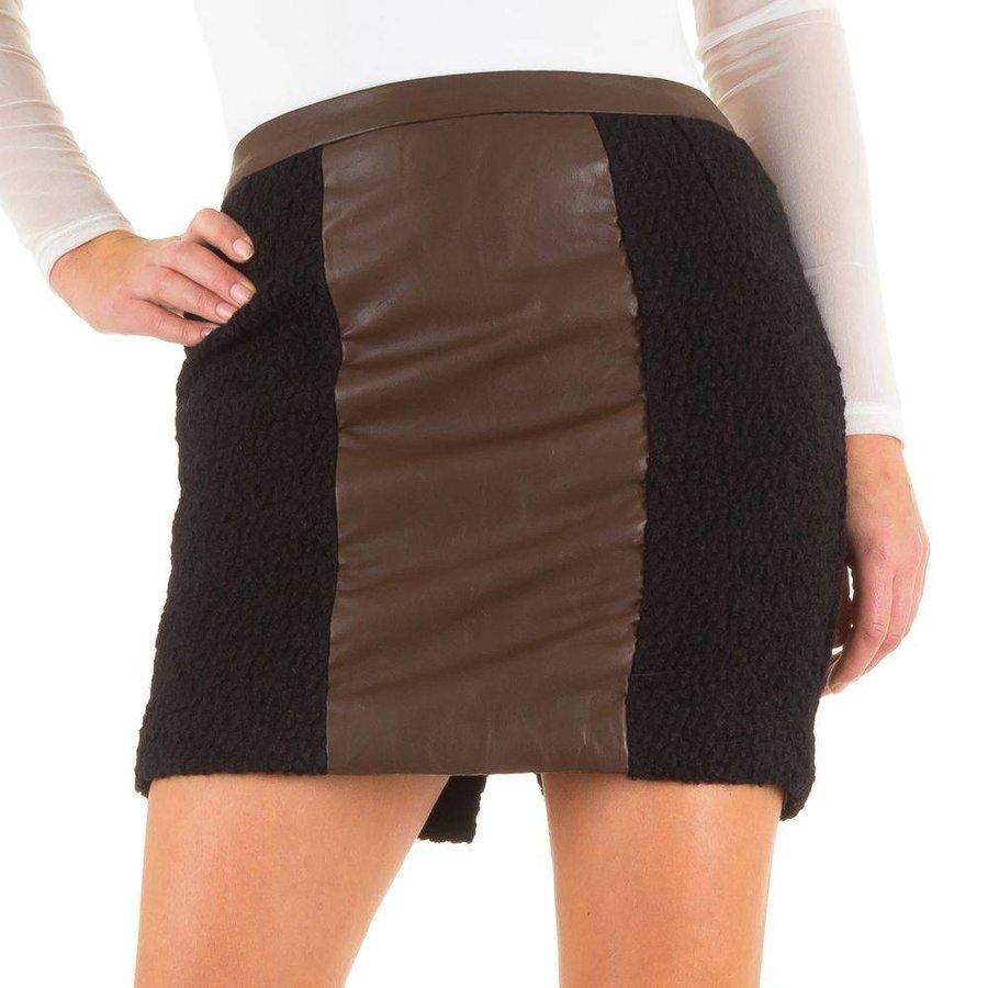 Damenrock - schwarz / braun