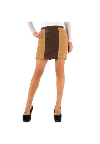 SWEEWE Jupe Femme - beige / marron