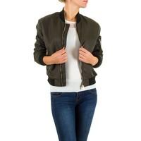 Kurze Damenjacke - Khaki