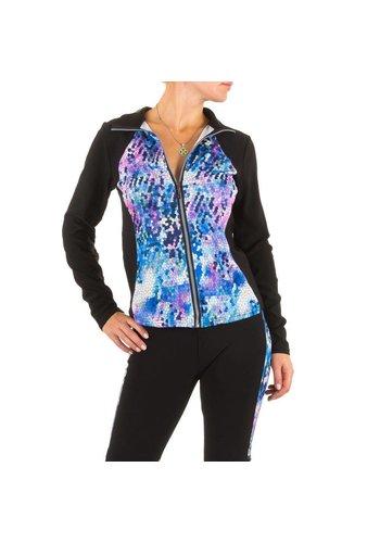 Best Fashion Sporty Ladies Veste - bleu