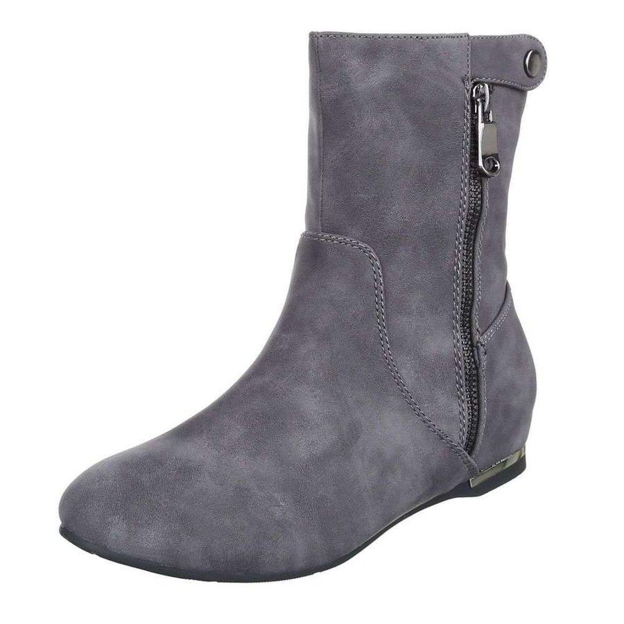 Halbtiefer Damen Stiefel - grau