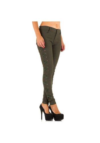LAULIA Pantalon pour femme - kaki