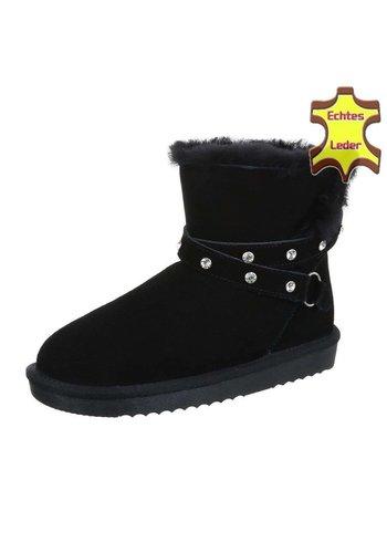 Neckermann Leren dames Boots - zwart