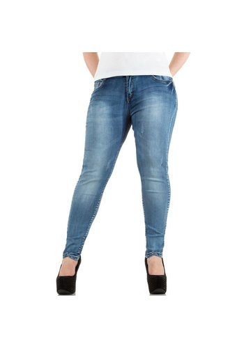 MISS SISTER Dames Jeans - blauw