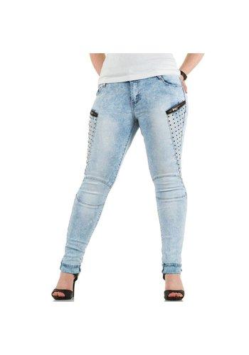 NINA CARTER Dames Jeans - L.blue