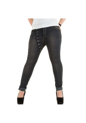 Mozzaar Dames Jeans - DK.grijs
