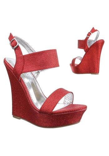 Neckermann Dames Open schoen met sleehak - rood