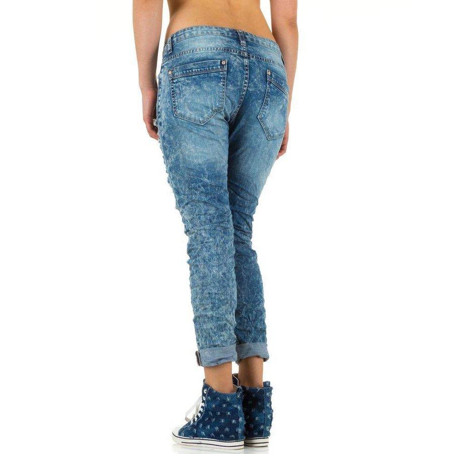 Zerrissene Damen Jeans - blau
