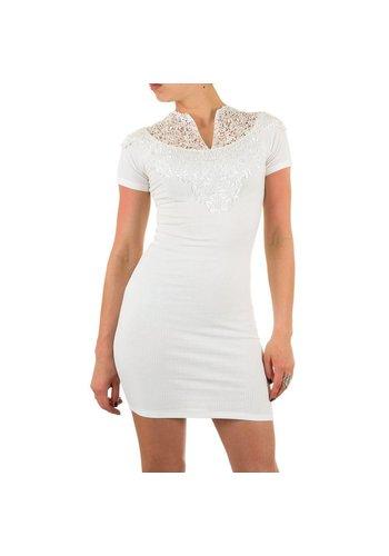Neckermann Damen Kleid mit Spitze - weiß