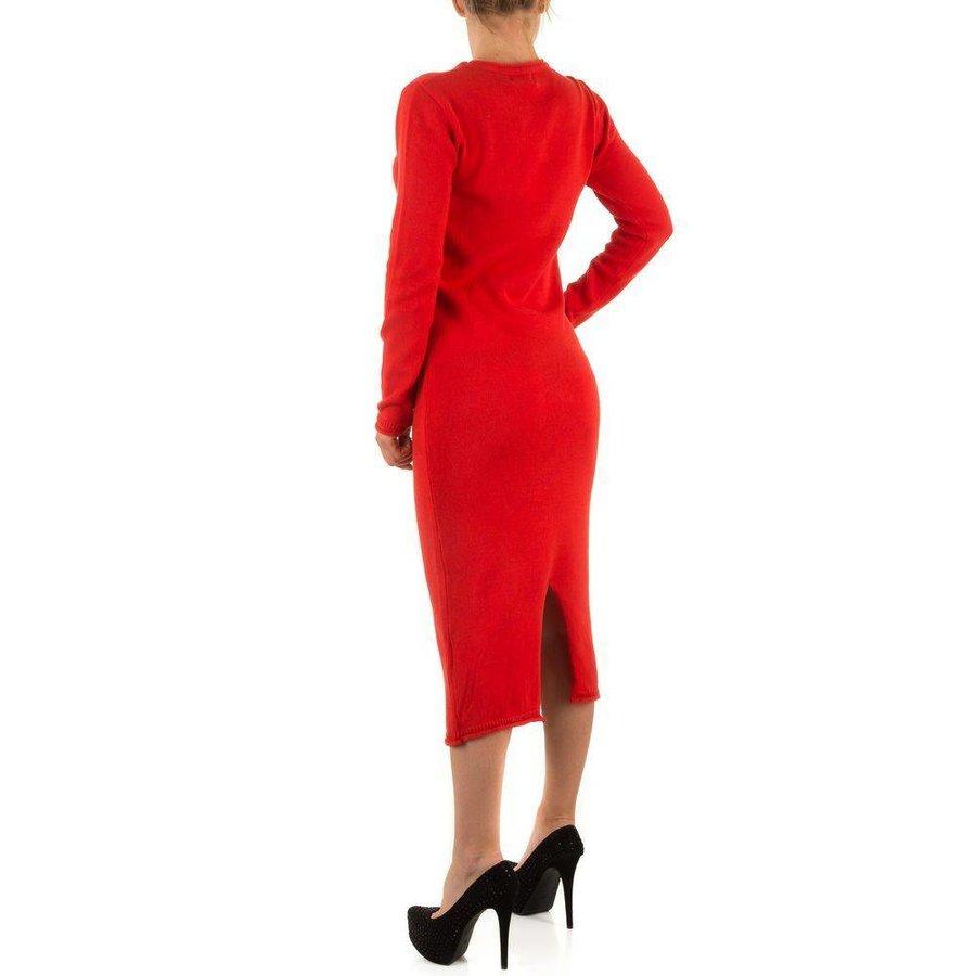 Langes Damen Kleid - rot