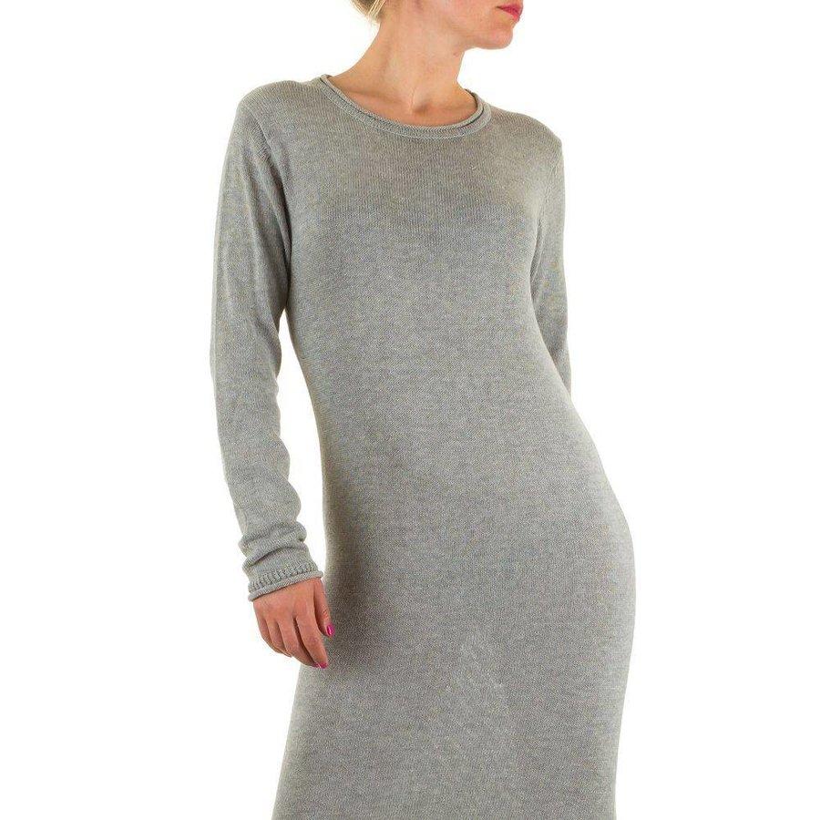 Langes Damen Kleid - grau