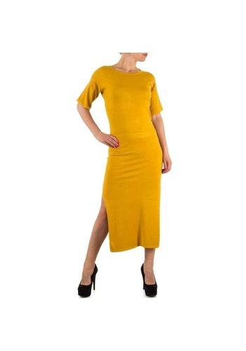 JCL Langes Damen Kleid von Jcl - Senf