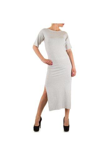 JCL Langes Damen Kleid - LT.Grey