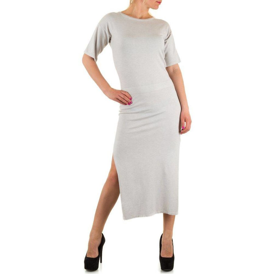 Langes Damen Kleid - LT.Grey