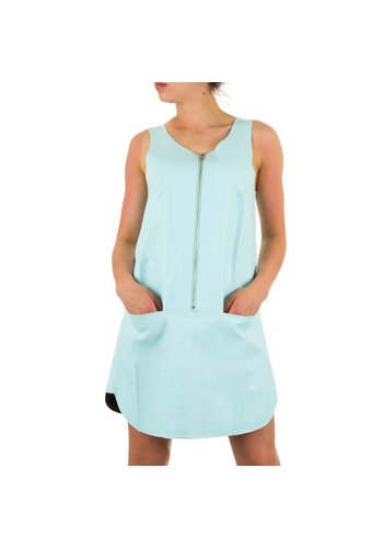 Neckermann Damen Lederlook Kleid - L.groen
