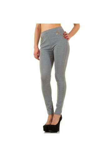 Neckermann Dames Legging met zijritsen - L.grey