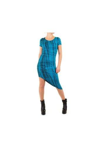 SHK MODE Robe Femme - Bleu