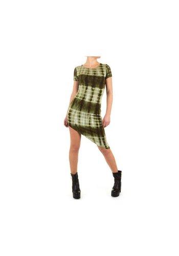 SHK MODE Damen Kleid - grün