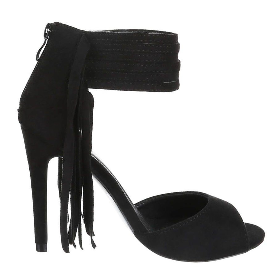 Offene Damenschuhe - schwarz