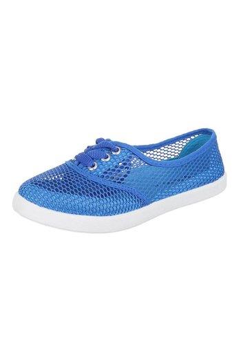 JUSTINE SHOES Dames casual schoenen - blauw