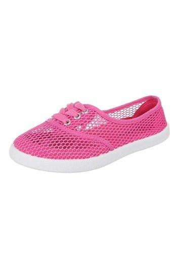 JUSTINE SHOES Dames casual schoenen - fuchsia