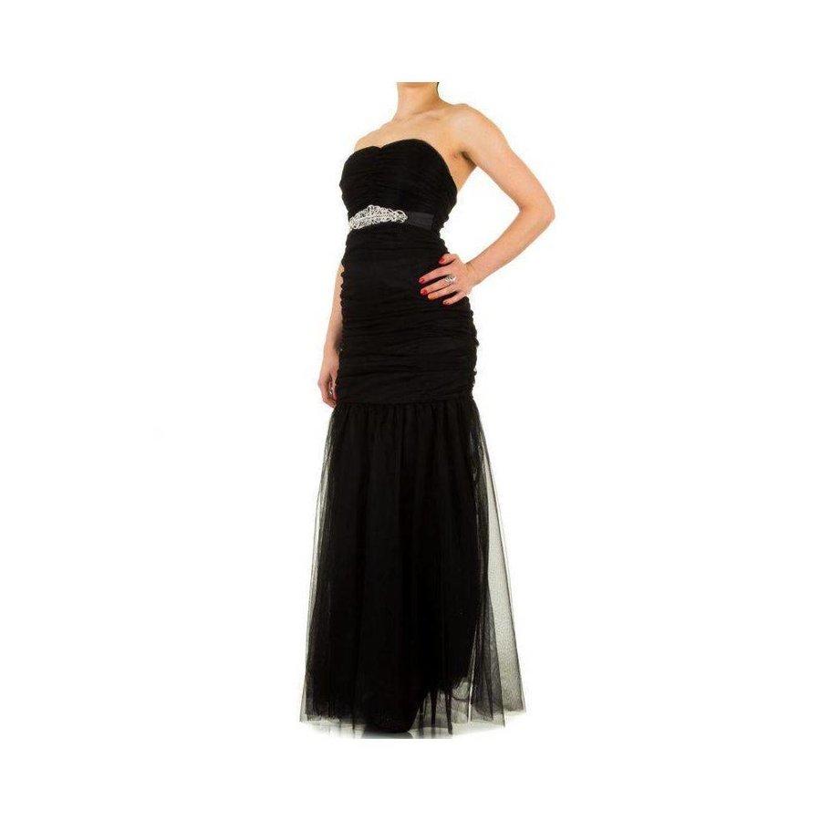Trägerloses Abendkleid - schwarz
