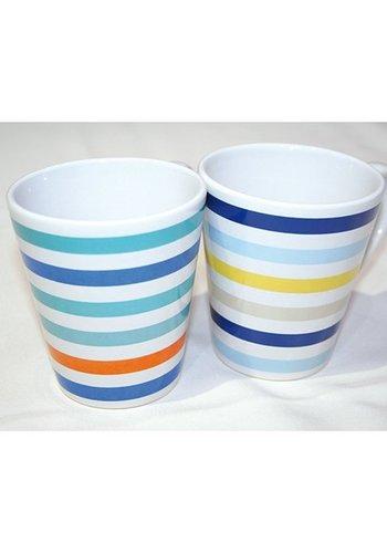 Tasse à café Strip Design 250ml, forme conique