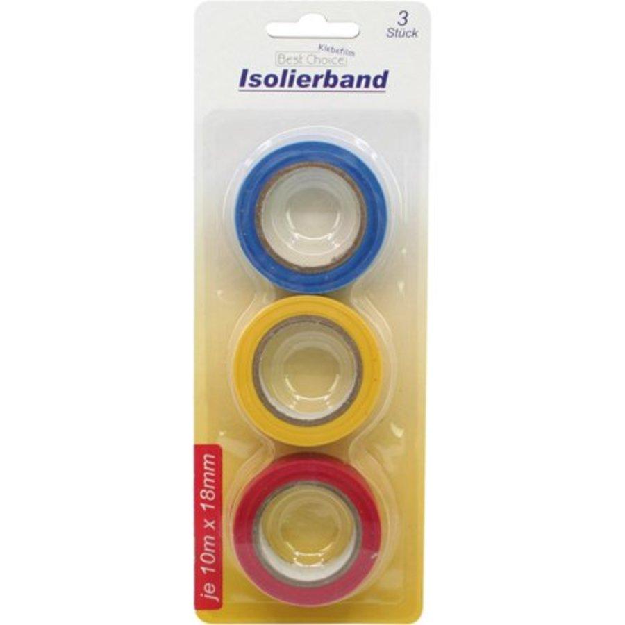 Klebeband Isolierband 3 Rolle in drei Farben 18mmx10m