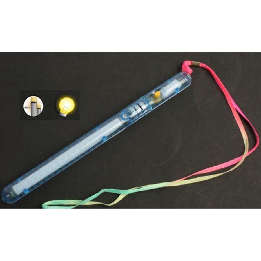 Leuchtstab 21cm mit 3 Funktionen 4 Farben sort.