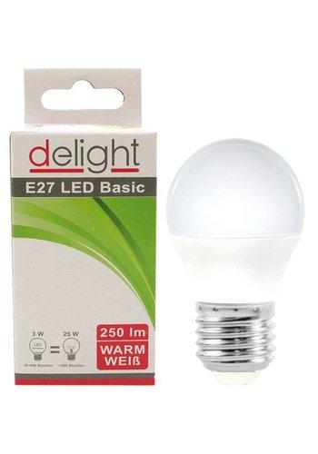 Delight LED Birne Delight 3Watt, E27 Sockel