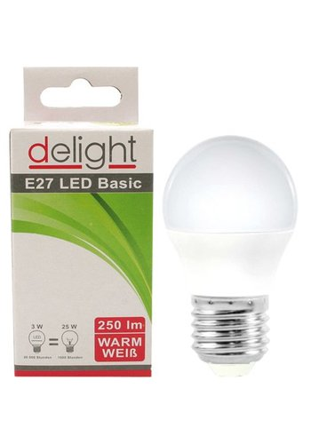 Delight LED-lamp Delight 3Watt, E27-fitting